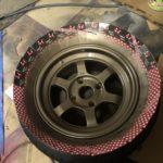 TE37V 補修 ブロンズ 缶スプレー塗装と傷をタッチアップペン